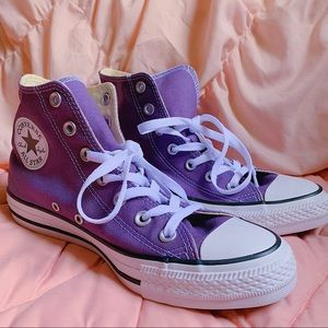 Purple Converse All Star High Top Sneakers